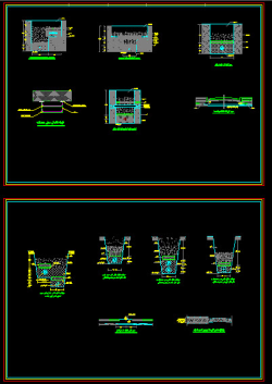 نقشه جزییات عبور کابل فشار ضعیف و قوی